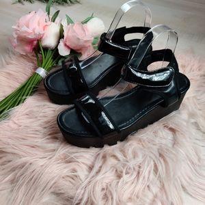 Ideal shoes brand futuristic platform sandles
